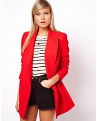 ASOS Collection Textured Blazer Coat - Lyst