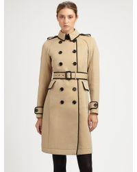 Burberry Prorsum Wool Coat - Lyst