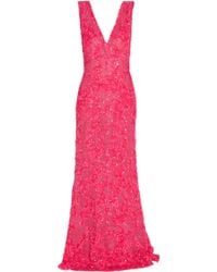 Elie Saab Sequin Embroidered Gown - Lyst
