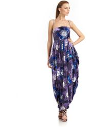 Giorgio Armani Velvet Floral Gown - Lyst