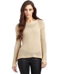 Alice + Olivia Dropback Ribbed Sweater - Lyst