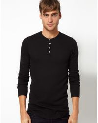 American Apparel Henley Top - Lyst
