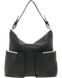 Asos Hobo Bag with Metal Bars - Lyst