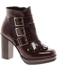 Asos Asos Alliance Leather Ankle Boots - Lyst