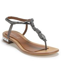 Boutique 9 Barbiera Snake Thong Sandals - Lyst
