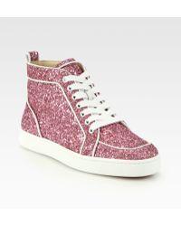 Christian Louboutin Rantus Orlato Glitter Sneakers - Lyst