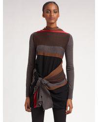 DKNY Merino Wool Wrap Sweater - Lyst