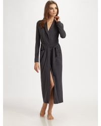 Hanro Lovely Lounge Long Wrap Robe - Lyst