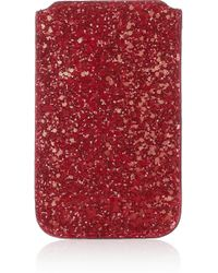 Jimmy Choo - Trent Glitterfinished Canvas Iphone Sleeve - Lyst