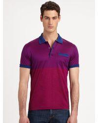 Versace Ministripe Jersey Polo - Lyst