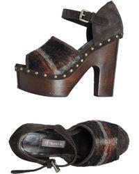 A Trois Platform Sandals - Lyst