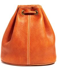 American Apparel - Leather Backpack - Lyst