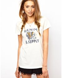 Denim & Supply Ralph Lauren - Denim Supply Native American Head Print Tee - Lyst