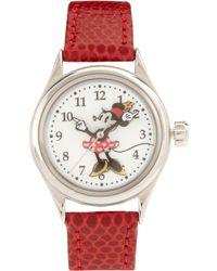 Disney - Leather Strap Watch - Lyst