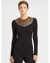 Donna Karan New York Jersey Necklace Top - Lyst