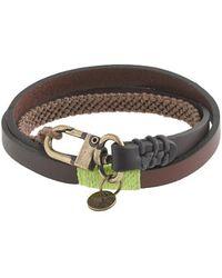 J.Crew - Caputo Co Triplewrap Leather and Waxed Cord Bracelet - Lyst