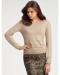 Alice + Olivia Rhinestone Crewneck Sweater - Lyst