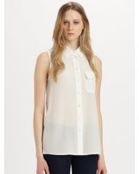 Marc By Marc Jacobs Erin Sleeveless Silk Shirt - Lyst