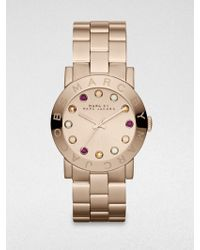 Marc By Marc Jacobs Amy Glitz Rose Goldtone Stainless Steel Bracelet Watch - Lyst
