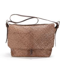 Massimo Palomba - Woven Leather Courier Bag - Lyst