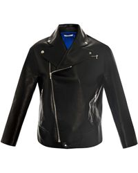Thomas Tait - Leather Biker Jacket - Lyst