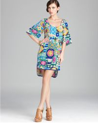 Trina Turk Dress Performance Abstract Printed - Lyst
