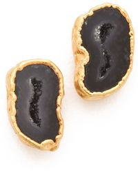Heather Hawkins - Geode Stud Earrings Black Druzy - Lyst