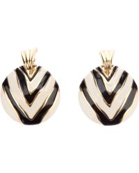 Givenchy Vintage Enameled Earring - Lyst