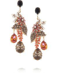 Bijoux Heart - Presence Goldplated Swarovski Crystal Drop Earrings - Lyst