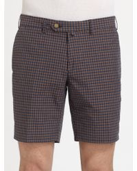 Gant by Michael Bastian Checked Shorts - Lyst