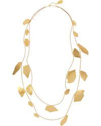 Herve Van Der Straeten - Cailloux Hammered Goldplated Necklace - Lyst