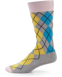 Hook + Albert - Miami Argyle Socks - Lyst