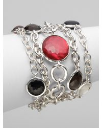Ippolita - Multistrand Multistone Sterling Silver Bracelet - Lyst
