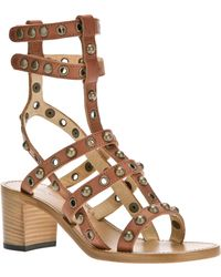 Isabel Marant Lester Studded Leather Sandals - Lyst