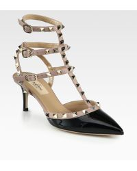 Valentino Patent Leather Rockstud Pumps - Lyst