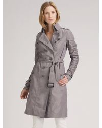 Burberry Brit Double Breasted Taffeta Trench Coat - Lyst