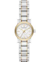 Burberry Ladies Mini Two-Tone Bracelet Watch - Lyst