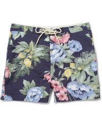 Gant Rugger - Shortlength Floralprint Swim Shorts - Lyst