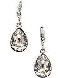 Givenchy Silvertone Teardrop-Shaped Crystal Drop Earrings silver - Lyst