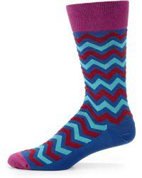 Hook + Albert - Imperial Zigzag Socks - Lyst