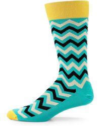 Hook + Albert - Imperial Zig Zag Socks - Lyst