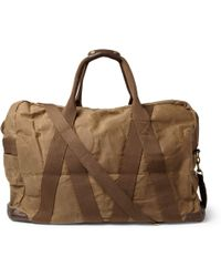 J.Crew - Abingdon Waxed Cotton Canvas and Leather Holdall - Lyst