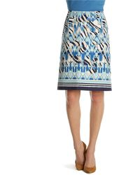 Nic + Zoe Paradise Print Pencil Skirt - Lyst