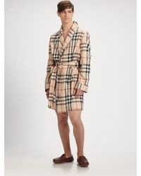 Burberry Beige Check Robe - Lyst