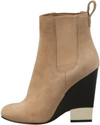 Givenchy - Suede Metaltip Wedge Ankle Boot - Lyst
