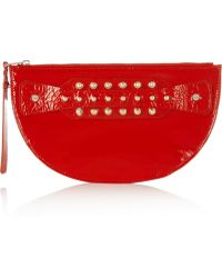 McQ by Alexander McQueen Studded Patentleather Clutch - Lyst