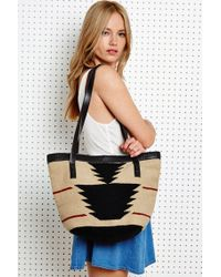 Urban Outfitters - Leather Trim Woven Shoulder Bag - Lyst