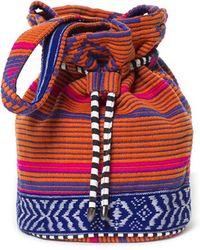 Zara Jacquard Pattern Drawstring Bag - Lyst