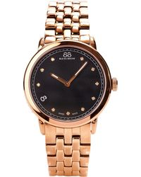 88 Rue Du Rhone - Womens Diamond Set Black Dial Bracelet Watch - Lyst