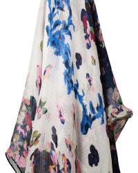 Erdem - Milian Printed Fine Gauze Silk Sarong Scarf - Lyst